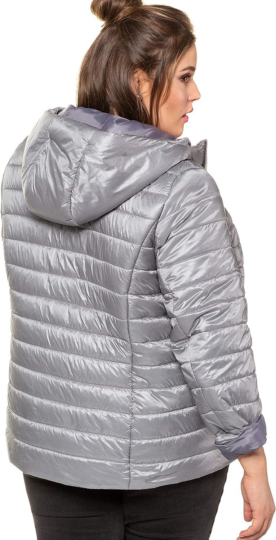 Studio Untold Women's Plus Size Lightweight Quilted Jacket 728583 Silver (Silver 72858396)