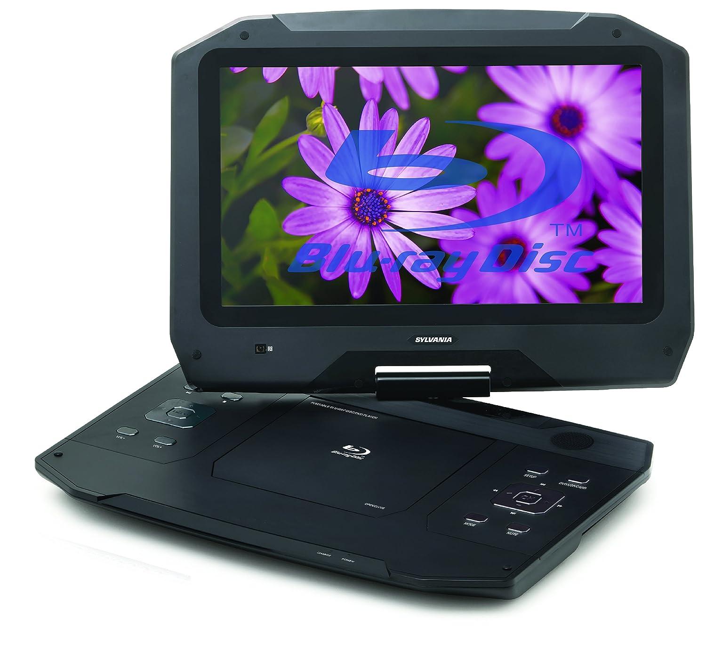 Sylvania 14 Inch 720p Portable Blu Ray, Dvd, Cd, Usb, Sd Multi Media Player High Resolution Hd by Sylvania