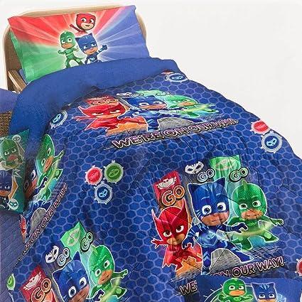 pjmasks 64455902190 Colcha Colcha, poliéster, Azul, 50 x 36 x 8 cm