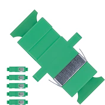 ef0591d01a4c2 Fiber Optic SC to SC Adapter Single Mode APC Simplex - 5 Pack - Beyondtech  Fiber