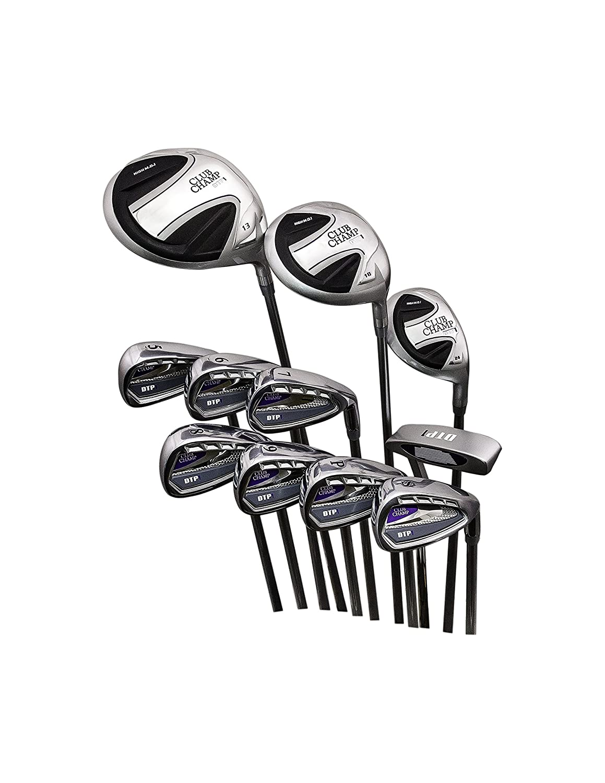 Club Champ Ladies Complete DTP (再生するように設計) ゴルフクラブセット右手 B0794VB8X6  11点セット