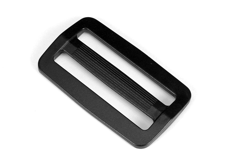 Strapworks Black Plastic Tri-Glide Slide – for Bag Straps, Rifle Slings, Dog Collars - 2 Inch, 2 Pack PLH-SLS-PLS-002-STN-02P