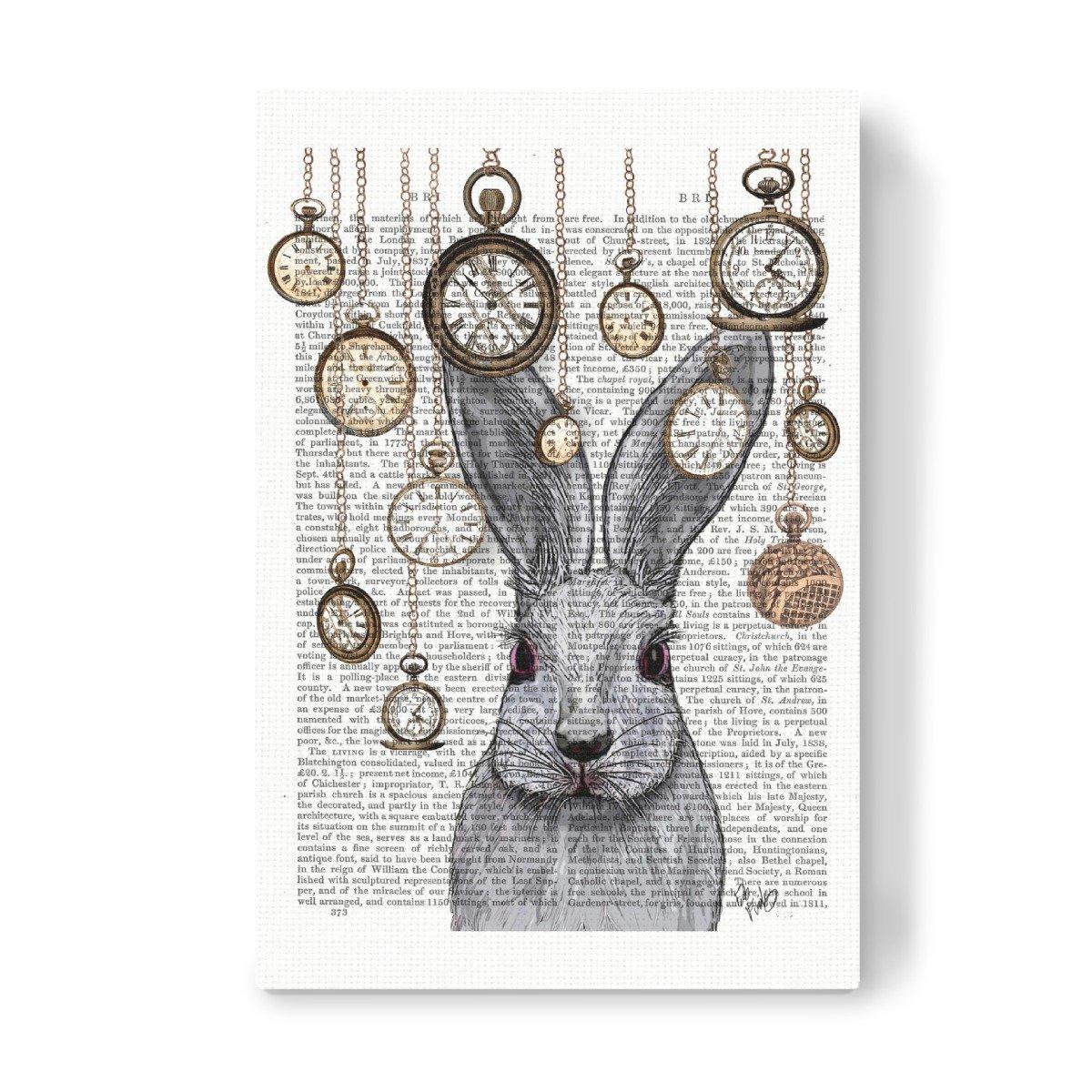 ArtboxONE Leinwand 60x40 cm Fiktion Folge DEM Kaninchen von FabFunky