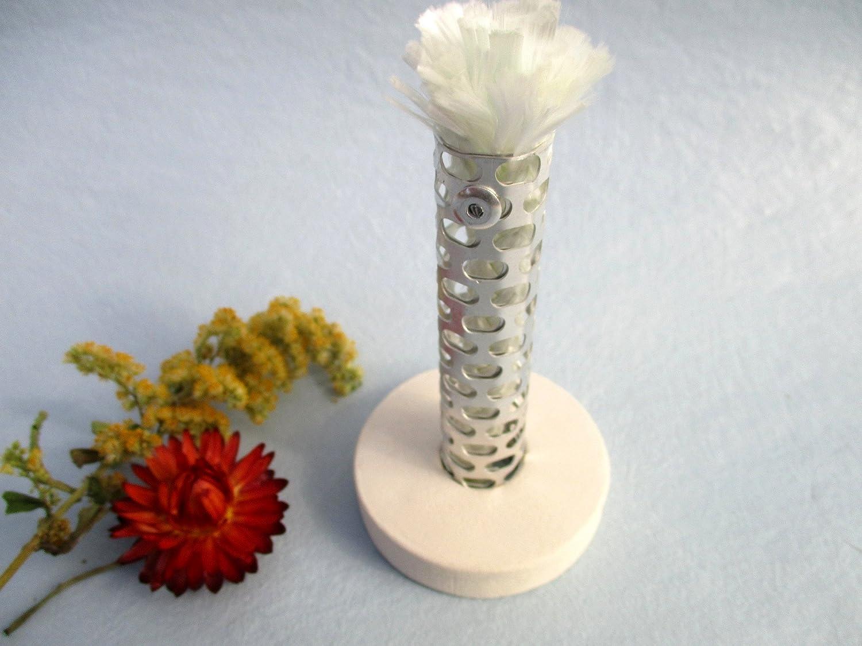 Dochthalter Schmelzlicht Kerzen Wachs Reste auch Indoor 4,3 cm  Glasfaser Docht