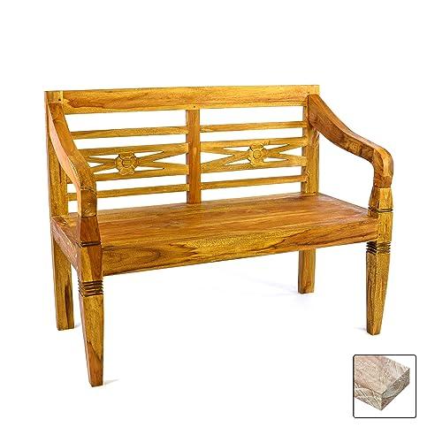 Amazon.De: Divero 2-Sitzer Antike Gartenbank 115 Cm Massiv Teak