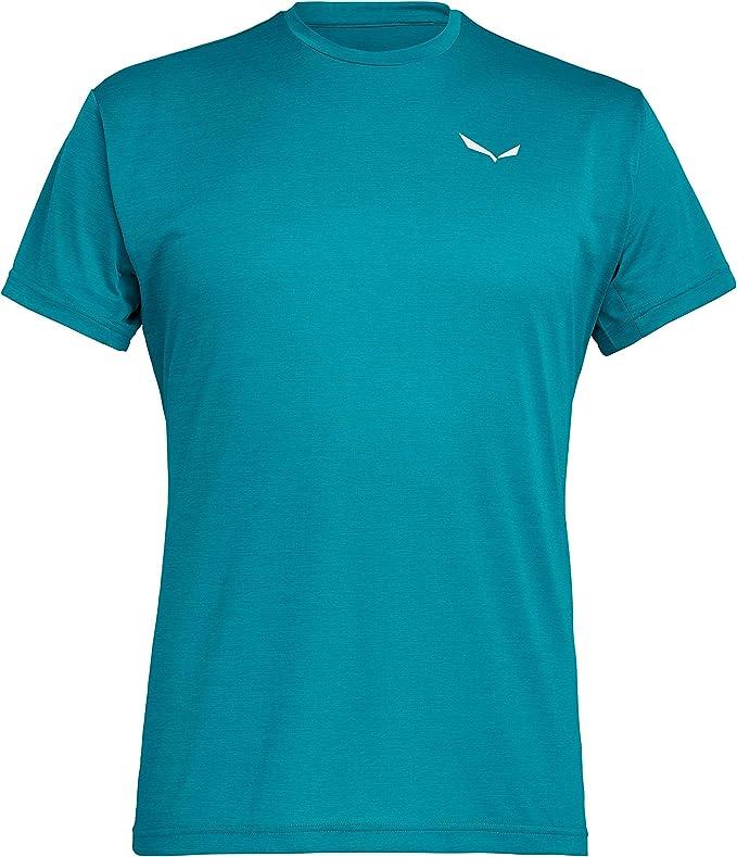 Salewa Puez Melange Dry T shirts tech short sleeve Red Women