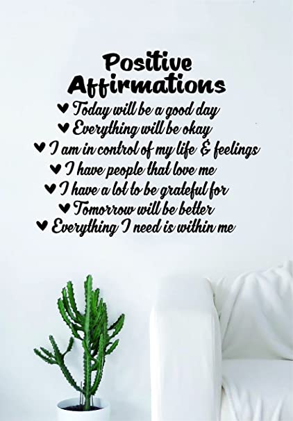 Amazon Positive Affirmations Quote Wall Decal Sticker Bedroom Magnificent Positive Affirmation Quotes