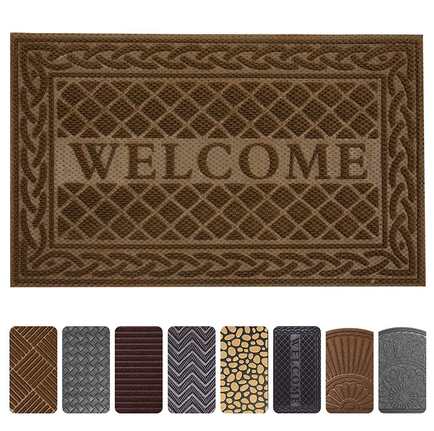 Mibao Entrance Door Mat, 24 x 36 inch Winter Durable Large Heavy Duty Front Outdoor Rug, Non-Slip Welcome Doormat for Entry, Patio