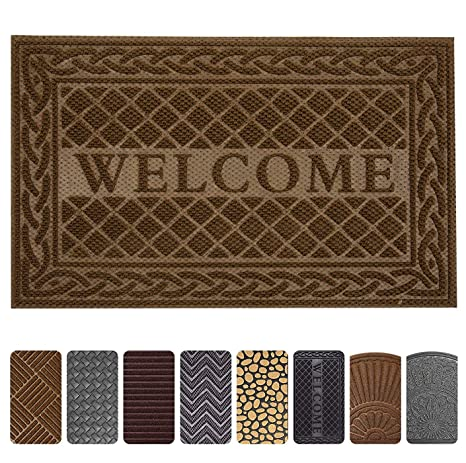 Entrance Door Mat, 24 X 36 Inch Large Non Slip Welcome Front Outdoor Rug