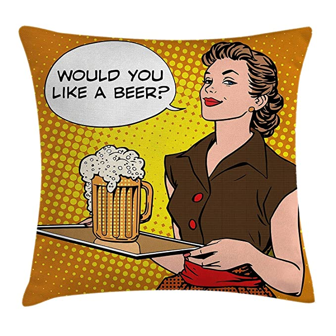 Amazon.com: Dweobolufz Man Cave Decor Throw Pillow Cushion ...