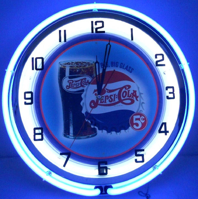 Amazon pepsi cola big glass 18 double neon clock sign blue amazon pepsi cola big glass 18 double neon clock sign blue home improvement amipublicfo Image collections
