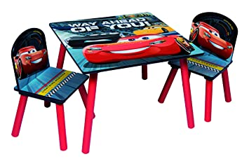 Disney Cars Sitzgruppe Tisch 2 Stuhle Aus Holz Cars3 Kindermobel