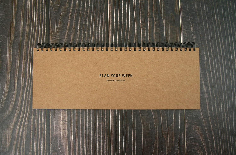 Plan Your Week Weekly Planner Pad Scheduler Wirebound Undated Weekly Pad Kraft