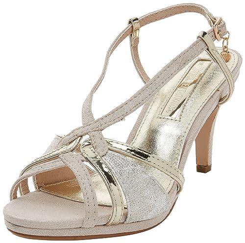 XTI 30679 Sandali con Cinturino alla Caviglia Donna Oro Gold 36 EU