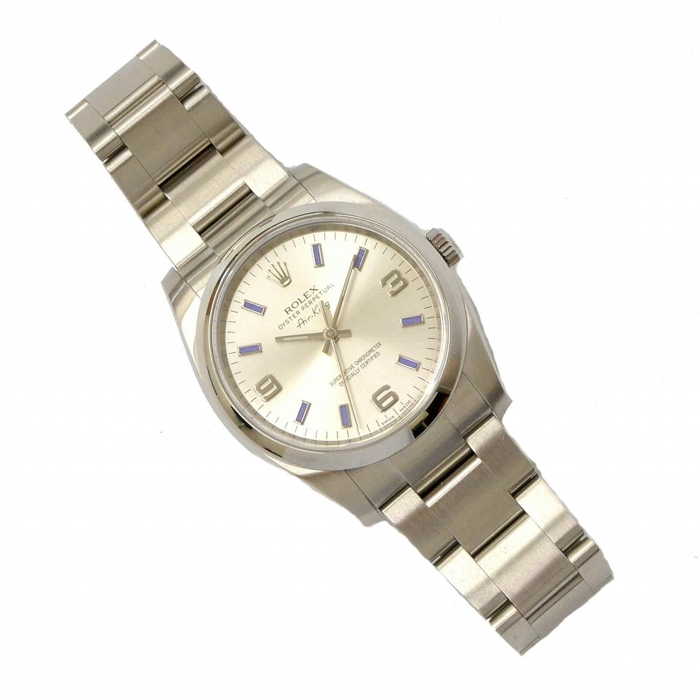 ロレックス ROLEX エアキング ランダム 腕時計 2013年10月 購入品 AT オートマ 自動巻 シルバー文字盤 114200 メンズ 中古 B07DH53HQD