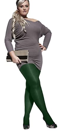 3f9c1e1c1fe67 DARK GREEN PLUS SIZE TIGHTS PERLA 40 DENIER WITH SPECIAL COMFORTABLE GUSSET  XXL- 4XL (6 - 8) BY ADRIAN: Amazon.co.uk: Clothing