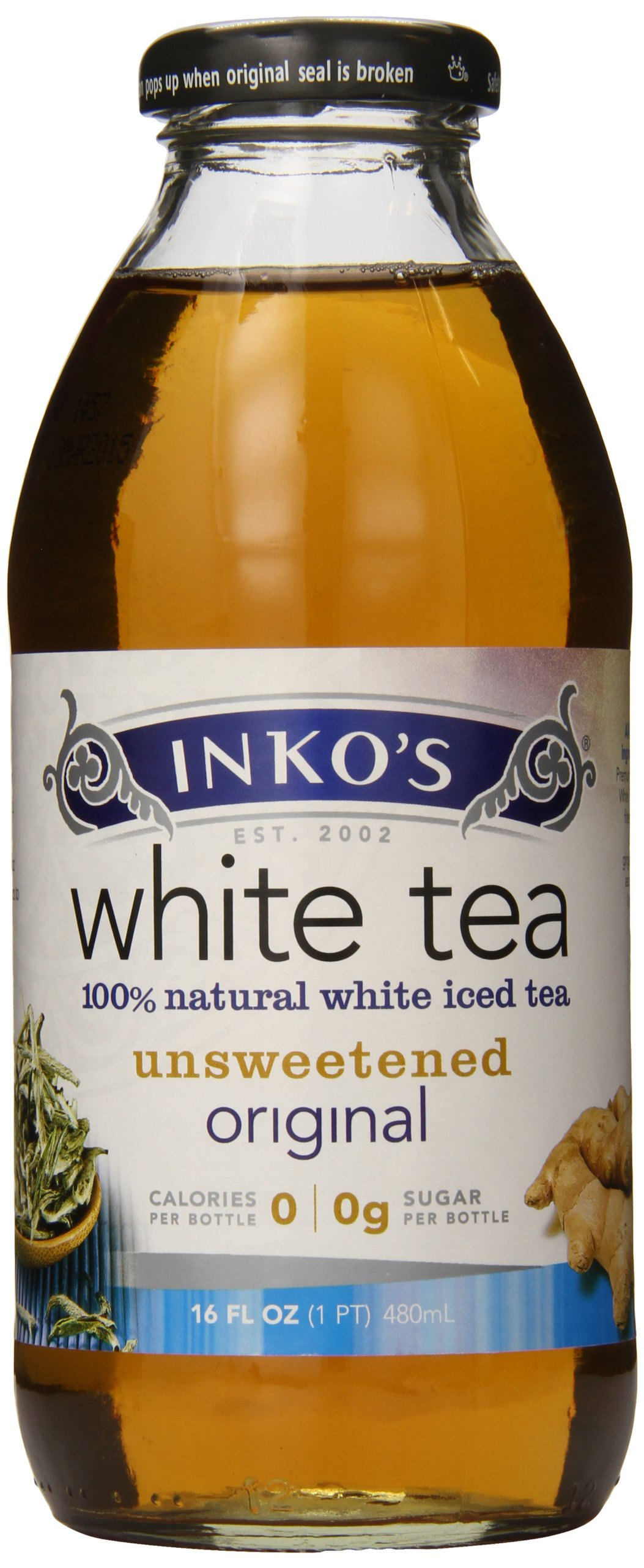 Inkos White Tea, Organicanic, 16 Ounce by Inkos