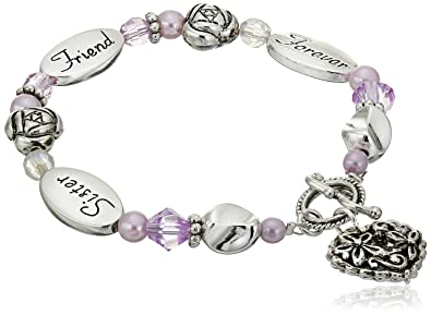 amazon com sister friend forever expressively yours bracelet charm