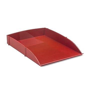Osco – Bandeja de plástico sola letra), color rosso