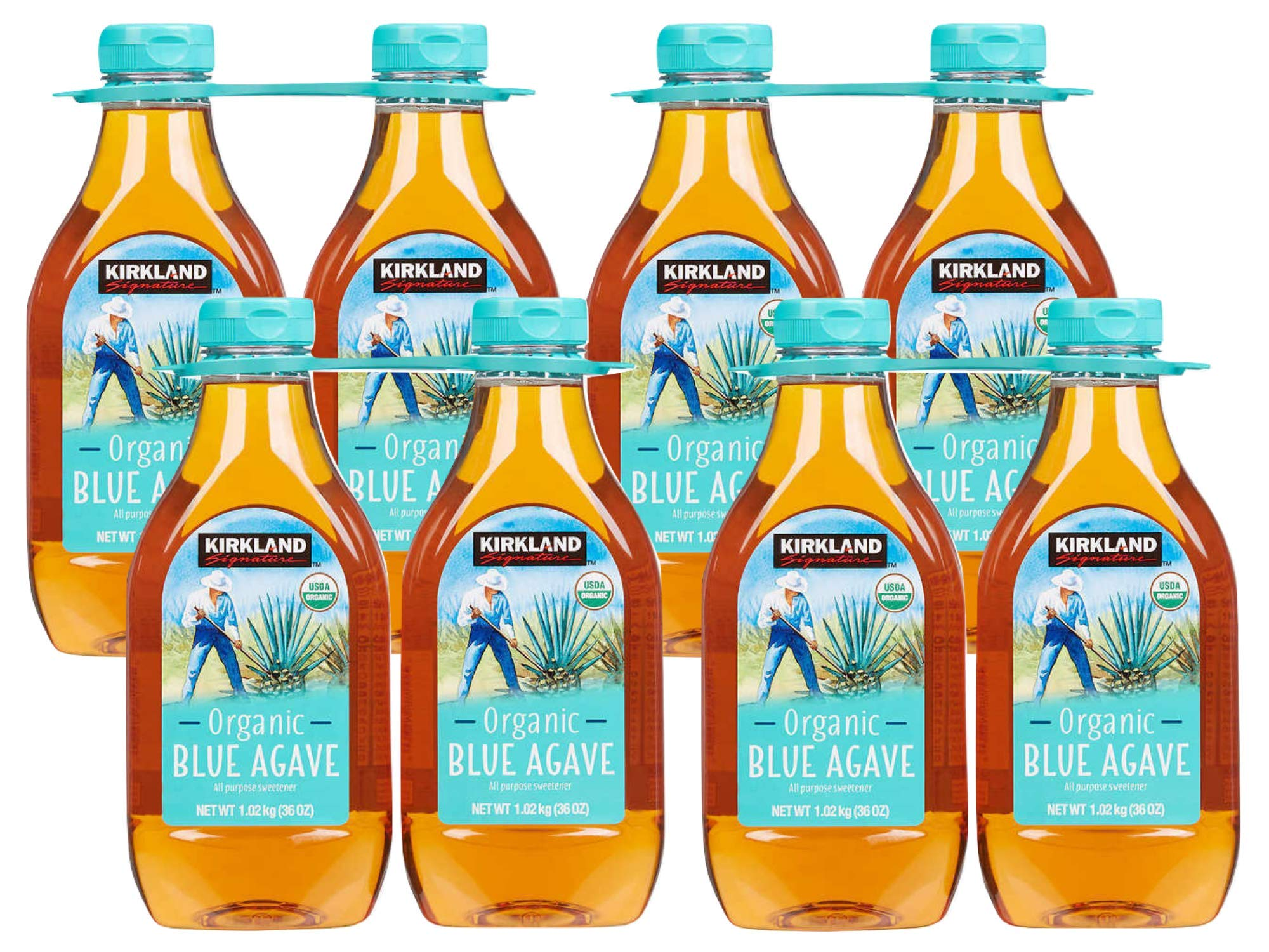 Kirkland Signature Organic Blue Agave 36 oz, (Pack of 8)