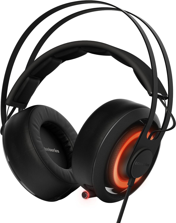 SteelSeries Siberia 650 - Auriculares para Juego, Sonido Dolby Surround 7.1, iluminación RGB, gestión de Software, (PC/Mac), Color Negro
