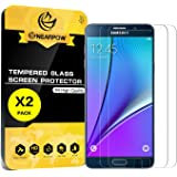 [2 Pack] Samsung Galaxy Note 5 Screen Protector, Nearpow [Tempered Glass] Screen Protector with [9H Hardness] [Crystal Clear] [Easy Bubble-Free Installation] [Scratch Resist]