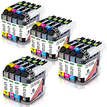 Toner Kingdom 16 Paquete (4 Set) Compatible Brother LC123 ...