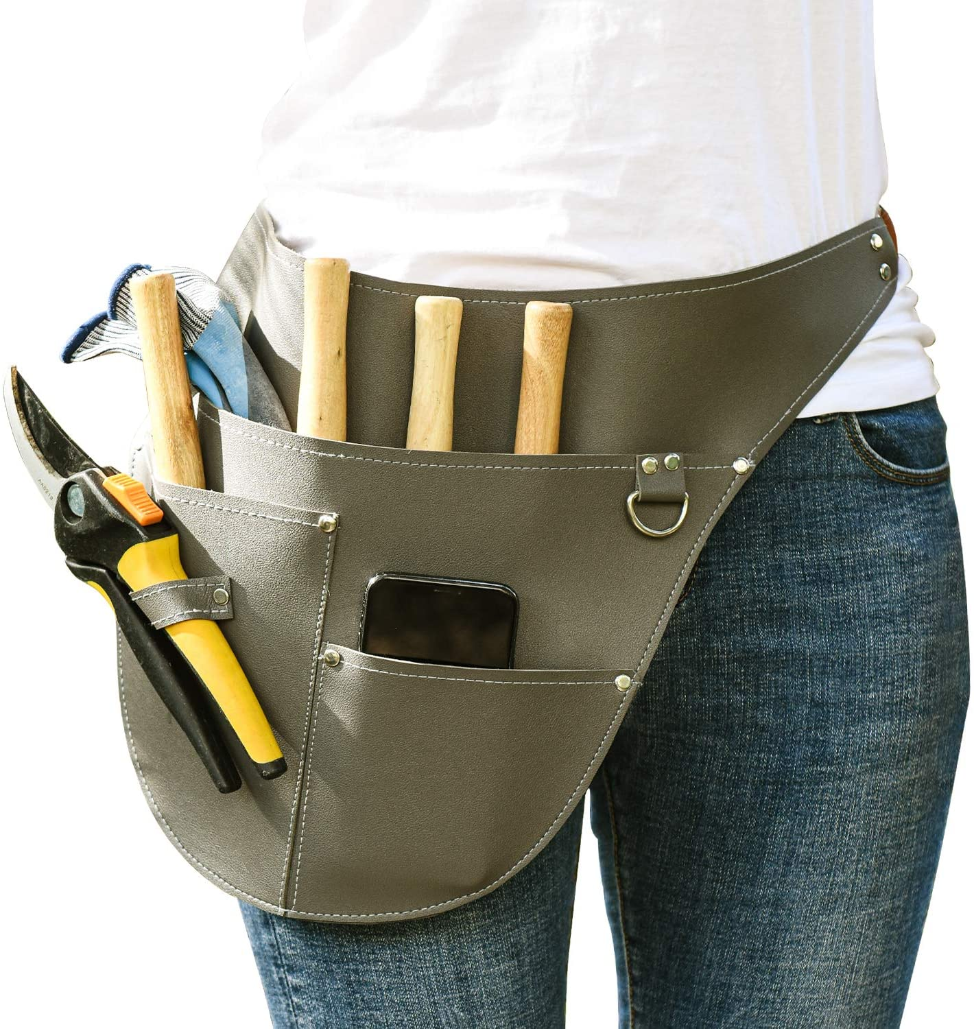 2021 Newest Garden Tool Belt, Gardening Tool Apron, Adjustable Tool Waist Pouch, Gardening Tools Belt Bag, Tool Pouch for Arts Gardening Utility or Work, Tool Belt for Men and Women