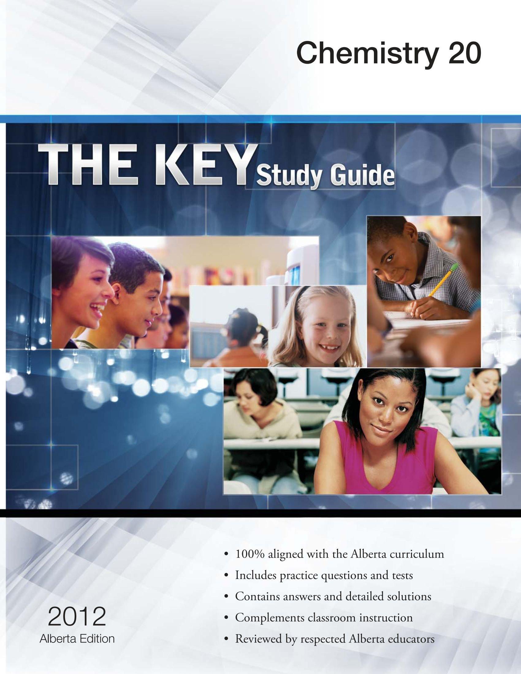 The Key Study Guide Chemistry 20: Gautam Rao: 9781770442184: Amazon