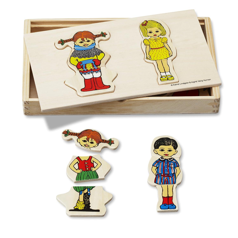 Pippi Langstrumpf - Puzzle de Madera Pippi Calzaslargas: Amazon.es ...