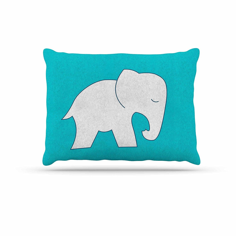 KESS InHouse NL Designs Cute bluee White Elephant Animals bluee Dog Bed, 30  x 40