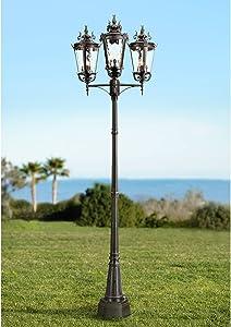 Casa Marseille Traditional Outdoor Post Light Textured Black 100