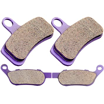 SCITOO Kevlar Carbon Fiber Brake Pads Fit for 2008 2009 2010 2011 Harley-Davidson Dyna//Fatboy//Heritage Softail//Rocker C//Softail,2008 2009 Harley-Davidson Night Train//Rocker