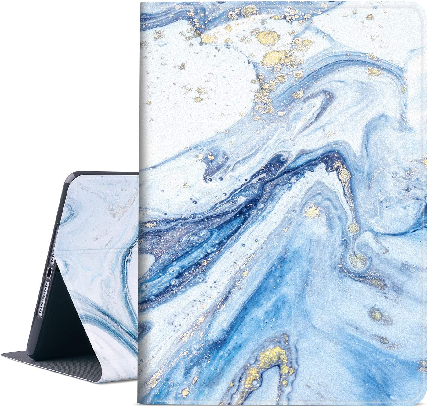 New iPad 9.7 inch 2018/2017 Case, Vimorco Premium Leather Case, Protective Hard Shell Cover for Apple iPad Air Air 2 ipad 6th Generation 5th Generation with Auto Wake/Sleep, Quicksand Marble