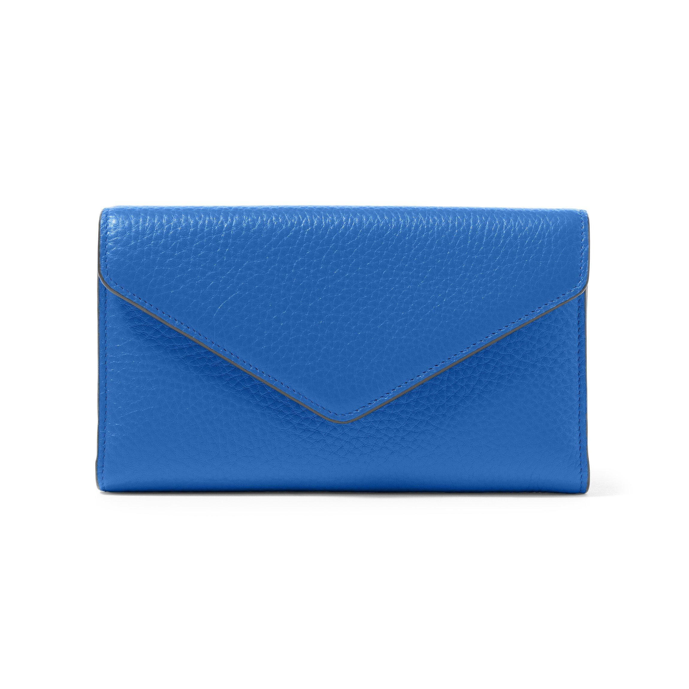 Trinity Checkbook Wallet - Full Grain Leather Leather - Cobalt (blue)
