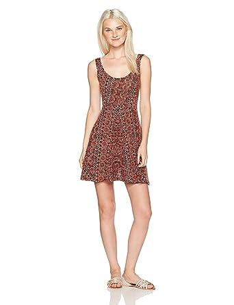 Amazon.com  Angie Women s Burgundy Skater Dress  Clothing 62f679e8c