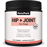 Glucosamine for Dogs Chondroitin MSM - Hip and Joint Support for Dogs of All Ages, Breeds and Sizes - Arthritis Treatment, Pain Relief, Hip Dysplasia Formula 800mg Glucosamine - Joint Supplement for Dog - Dog Treat - 225g Powder 90 Scoops - Petz Park