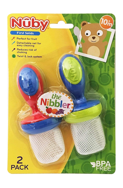 Amazon.com: Nuby 2-Pack Nibbler comederos de malla, colores ...