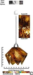 product image for Jezebel Signature JRNI-FP12-EAR-TRNI Nickel Flame Track Light, Small, Earth