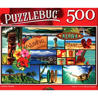 Hawaiian Paradise - 500 Pieces Jigsaw Puzzle: Toys & Games