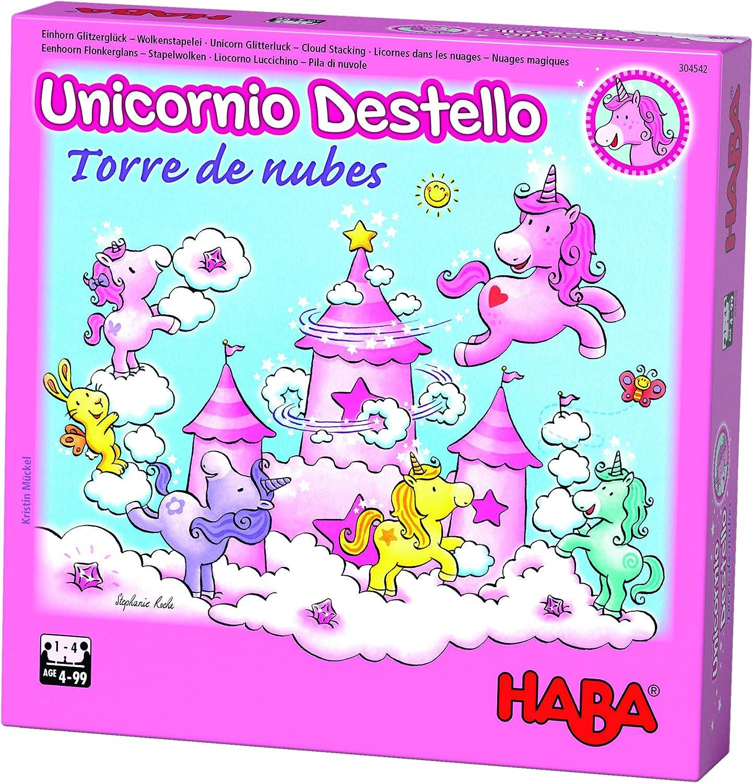 HABA- Juego de Mesa, Unicornio Destello - Torre de Nubes ...