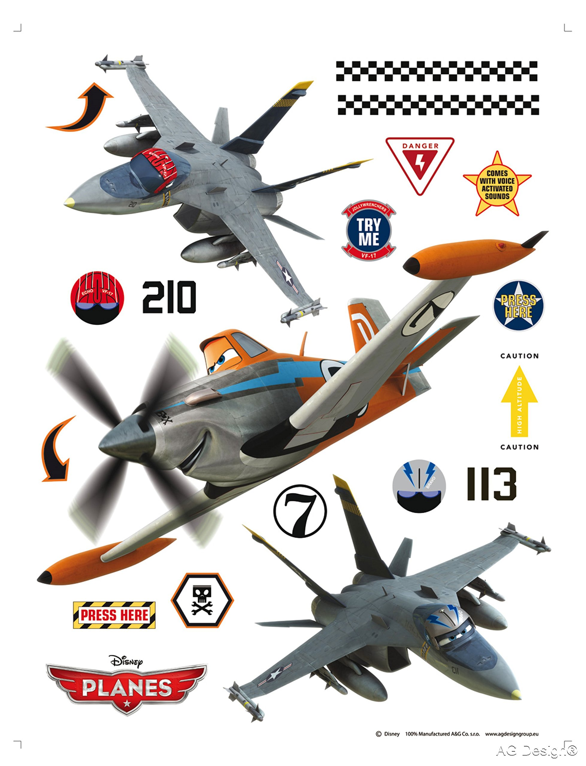 AG Design DK 1772 Autkleber Disney Planes Wall Stickers Part 14
