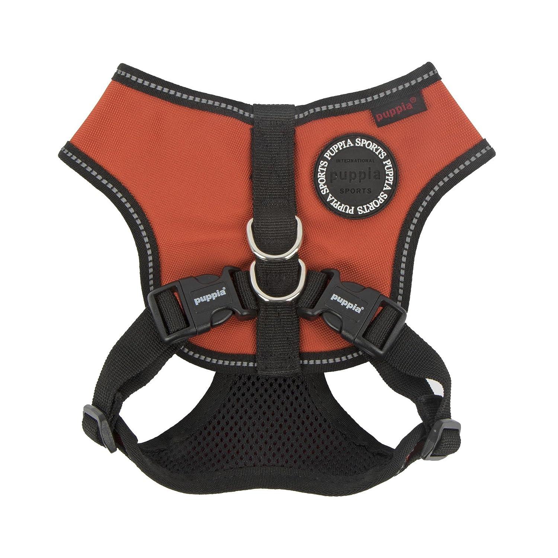Puppia PLRA-HE9323-OR-S orange Trek Snugfit Harness E Pet-Vest-Harnesses, Small