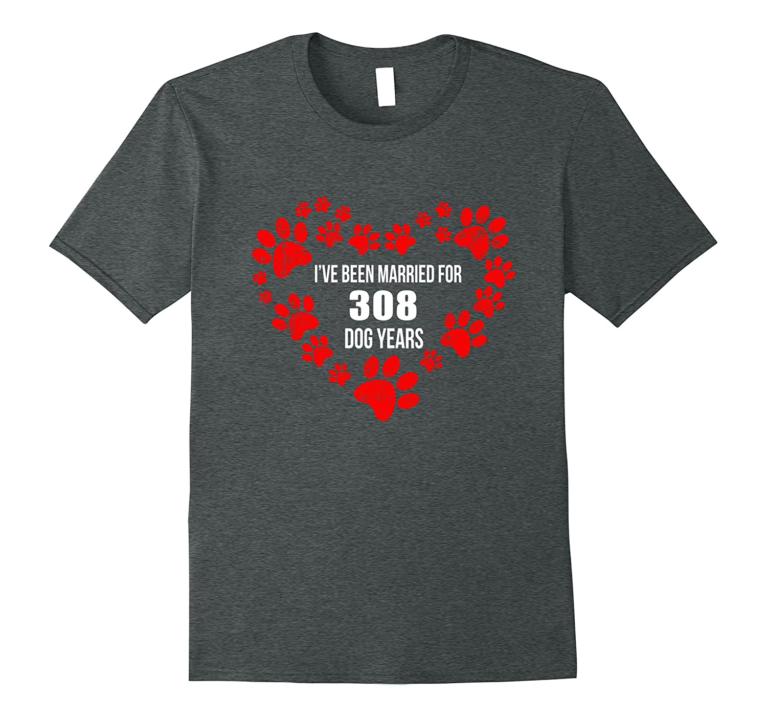 44th Wedding Anniversary T-Shirt 308 Dog Years Gift