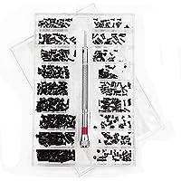 500 stuks Tiny Micro Repair Screw Kit, met Schroevendraaier, Roestvrijstalen Tiny Screws Assortimentkit, 18 Maten, voor…