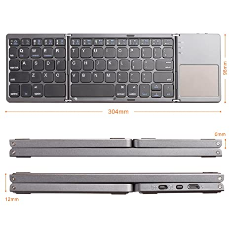 Amazon Com Lindon Tech Foldable Bluetooth Keyboard Rechargeable