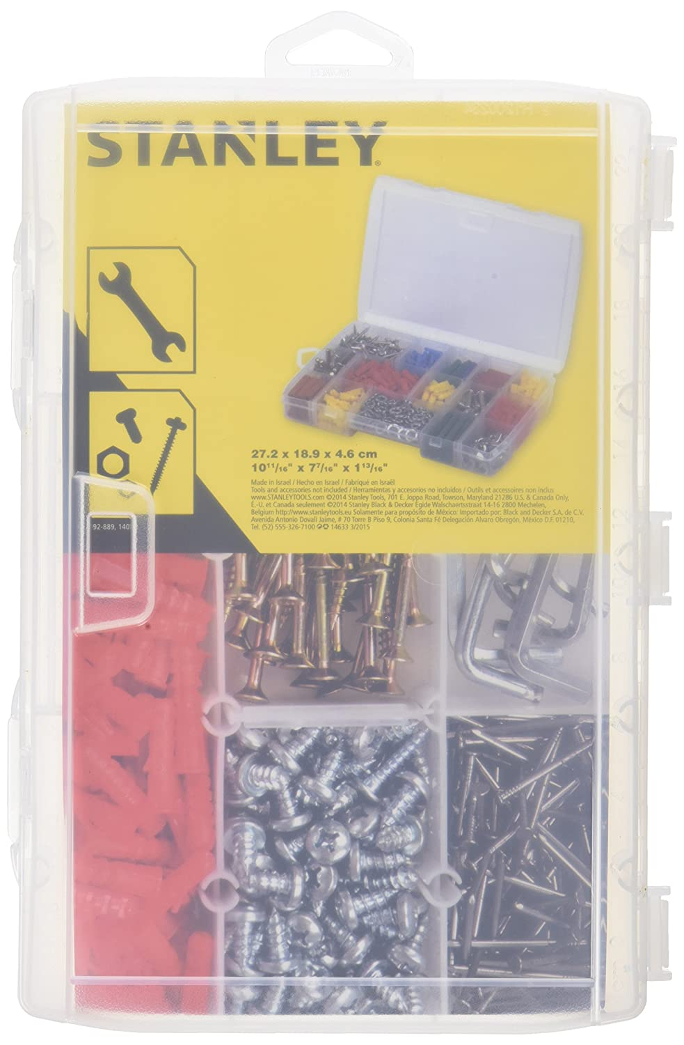 Stanley 1-92-889 Organizer with 17 compartments in Transparent, Multicolor