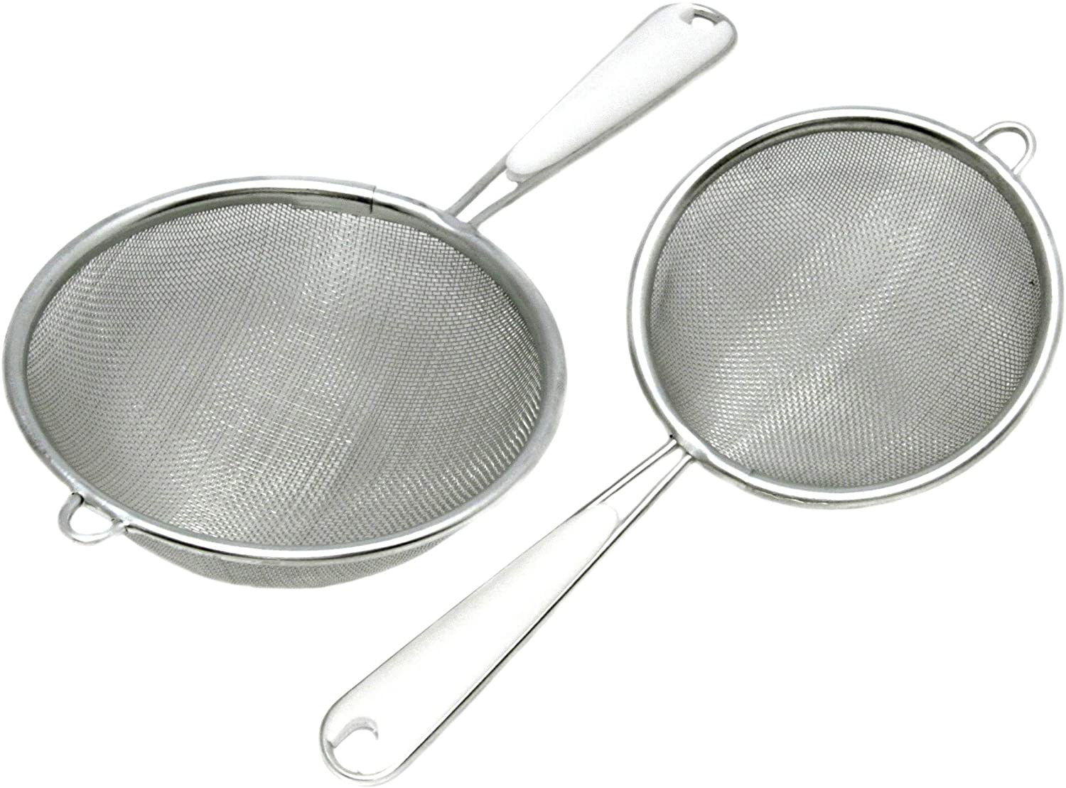 Chef Craft Stainless Steel Mesh Strainer, 2 Pack, Multisize, Silver