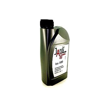 Aceite profesional Compresor a pistón ISO 100 Jardiaffaires 1 litro: Amazon.es: Jardín
