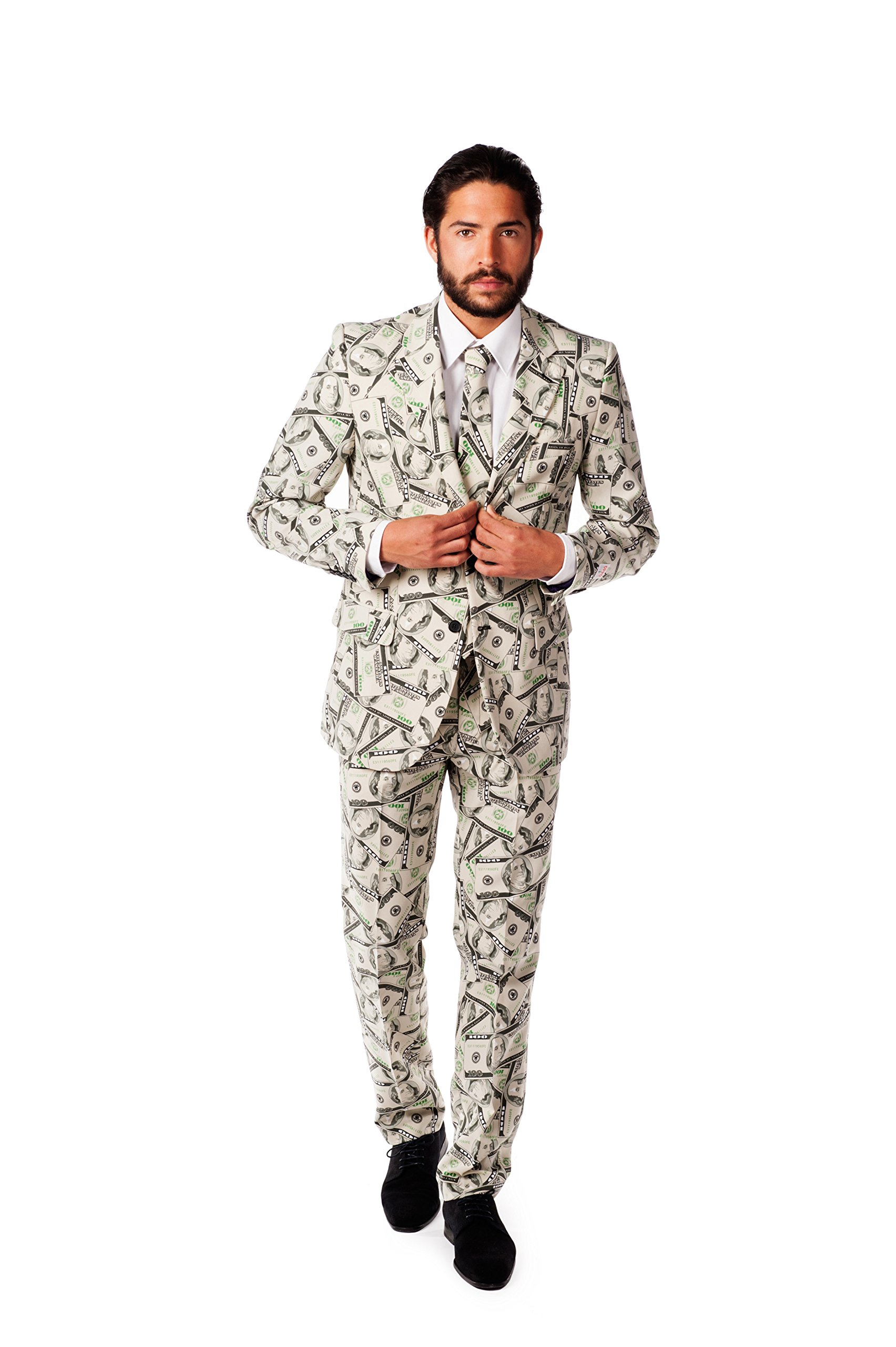 OppoSuits Men's Cashanova Party Costume Suit, Multi, 40